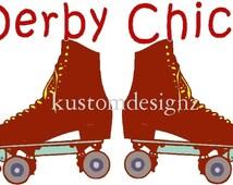 Derby Chic skate iron-on shirt decal transfer NEW by kustomdesignzbyk