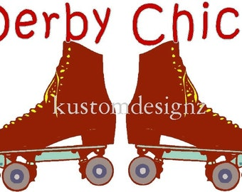 Derby Chic skate iron-on shirt decal transfer NEW by kustomdesignzbyk