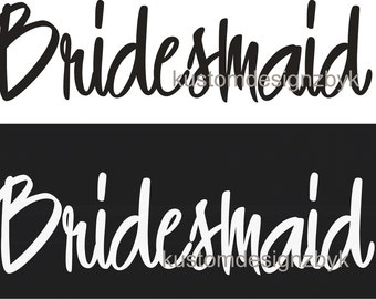 Lot of 10 iron on wedding party shirt decal transfers