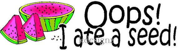 Oops ate seed maternity shirt iron-on decal