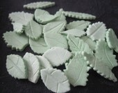 3 dozen leaves in any (single) color various shapes 100% edible Cupcake & Cake Fondant Toppers