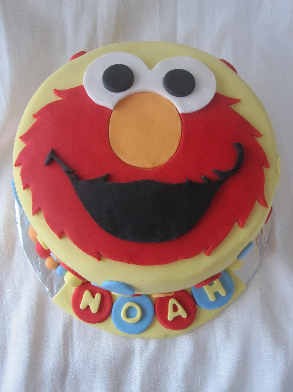 Elmo Cake Decorations : ELMO Sesame Street Edible 7 Fondant 2D Cake Topper