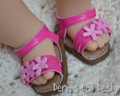Bitty flower sandal in pink -- for your Bitty Baby or Bitty Twin