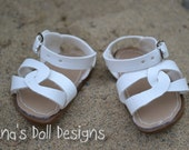 White Summer Sandals for your Bitty Baby or Bitty Twin