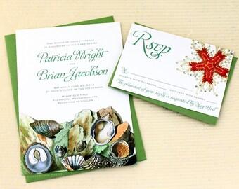 Tide Pool Wedding Invitations, Ocean Wedding Invitations, Beach Wedding Invitations, Tidal Pool Invitations, Beach Wedding Invites