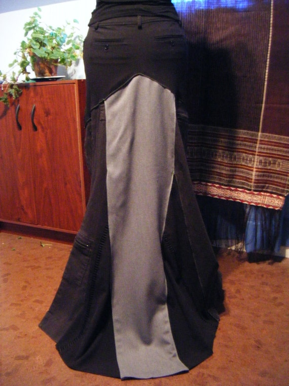 Shades Of Grey Long Skirt (OOAK)