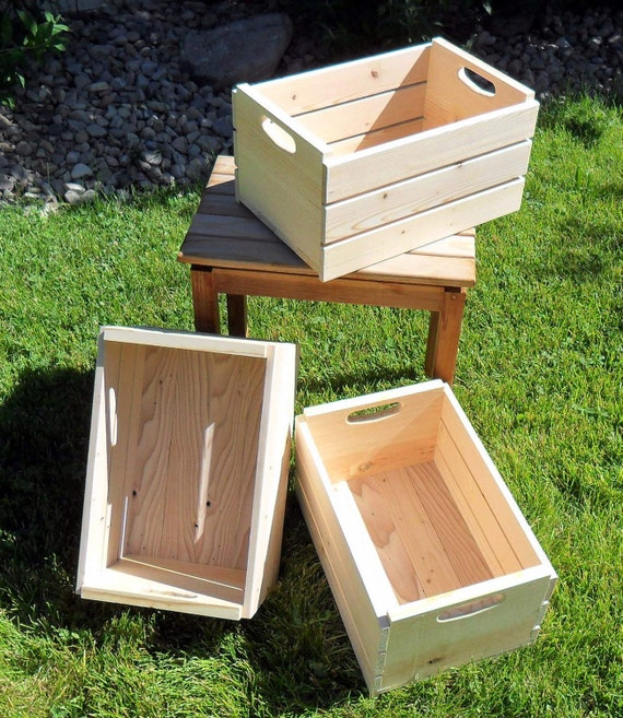 Custom Half Bushel Wooden Storage Crate For Morselrule