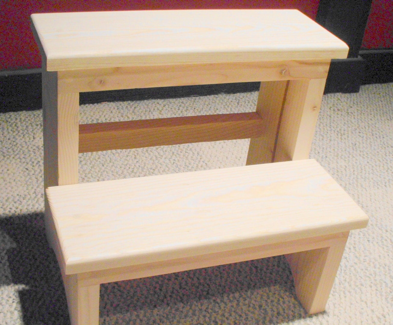 Handcrafted Pine Step Stool Unfinished By Emmersonwoodworks