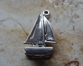 Sail Boat Sterling Silver Charm