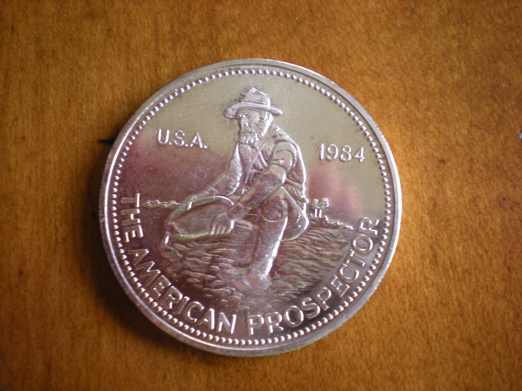 Fine Silver Coin One Troy Ounce 1984 American Prospector