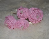 RESERVED for Danielle 2 Pink Rosette headbands