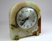 vintage SESSIONS marble clock in a nice art deco style maybe alabaster