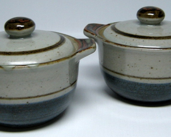 vintage OTAGIRI MARINER set of 2 individual bakers with lids mini casseroles sale was 28.00 now 22.00