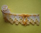 Flower lacy ribbon : Yellow