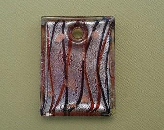 Murano Lampwork Pendant, 30x40x0.5mm.