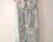 1970's Sleeveless French Floral Romper