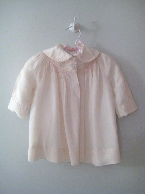 "1950's Soft Pink ""Poet"" Coat"