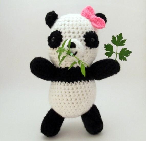 Stuffed Animal Panda Crochet Amigurumi- Black and White