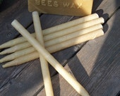 Ear Candles Made with Beeswax and Unbleached Muslin Cloth