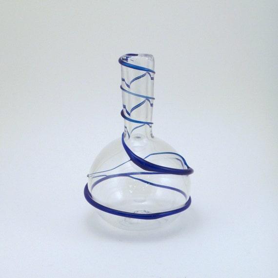 Bud Vase with Blue Wrap