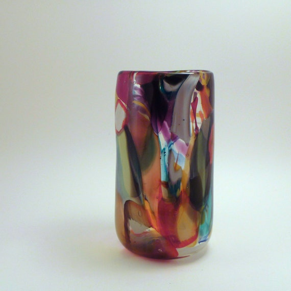Abstract Color Vase (Cylinder)