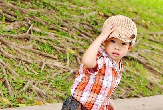 Personalized boy hat, Unisex hat, Crochet baby hat, baby boy hat, Unisex baby hats, Baby boy crochet hat, Children Crochet Caps