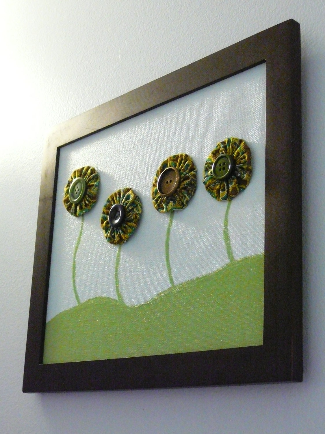 Button Wall Art Button Art Wall Hanging Baby Nursery Art
