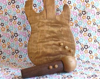Rockin' Wooden Toy Microphone, Wooden Instruments, Wooden Toys, Rockstar, Singing, Rhythm, Pretend Play, Montessori, Waldorf
