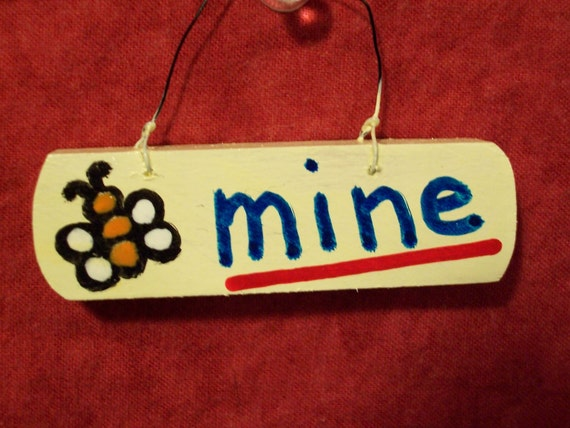 Bee Mine Miniature Hand Painted Sign-- Clearance Price