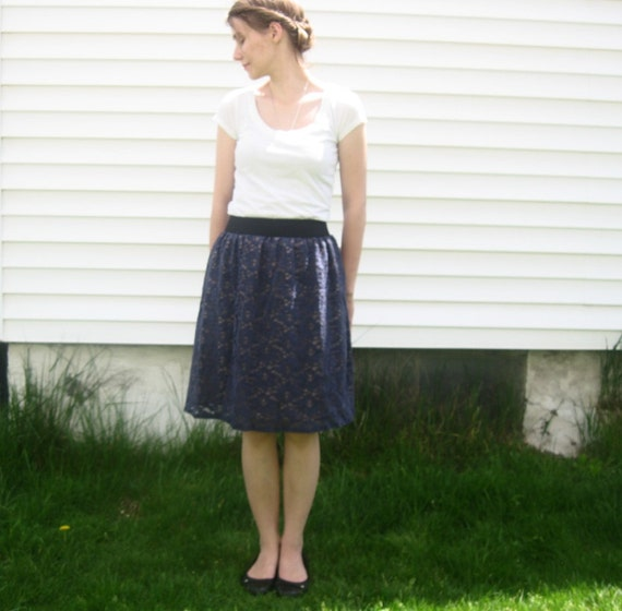 Navy lace skirt size small/medium
