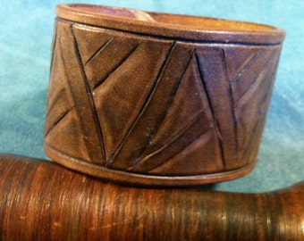 Leather Cuff - Distressed Brown