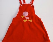 Vintage Red Velour Dress 3-4T