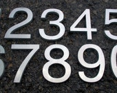 Modern House Numbers Helvetica Font Recycled Aluminum 6""