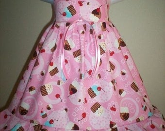 Boutique CUPCAKE BIRTHDAY Dress 6m 9m 12m 18m 24m 2t 3t 4t 5t 6yr - SarahsRainbow