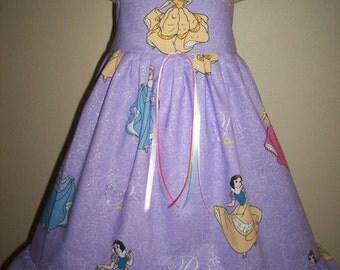 Boutique DISNEY PRINCESS Cinderella Snow White Belle Girls Custom Dress 3m 6m 9m 12m 18m 24m 2t 3t 4t 5t - SarahsRainbow