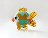 Glass lampwork fish bead