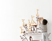 Wall Decal Sticker Removable Vinyl - Castle