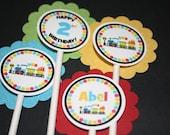 Choo Choo Train Cupcake Toppers - Girl or Boy - Any age or color