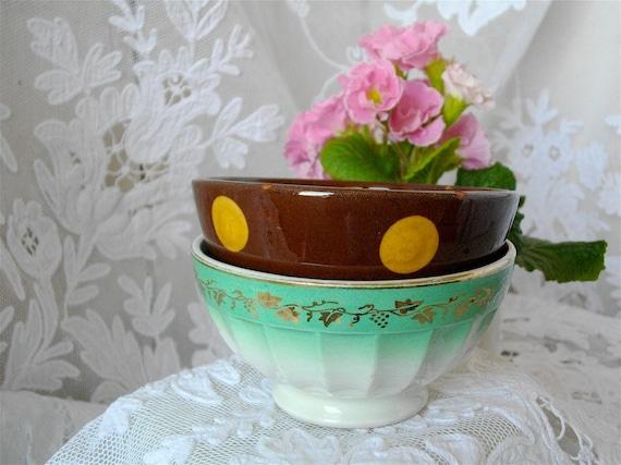 "RESERVED RESERVED french vintage little bowl "" cafe au lait """