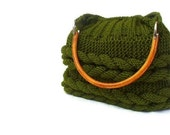 Christmas gift-Green Knitted Bag.Olive green bag,moms gift,mothers day gift-Back to school--fashion,fashion for mom