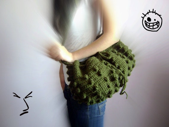 Hobo bag-Ready To Ship-Handmade Knitted Handbag- Everyday Bag,Crochet handbag-winter fashion ,Fashion- Holiday Accessories