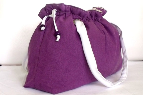 Purple fabric bag,shoulder bag,tote bag,spring,