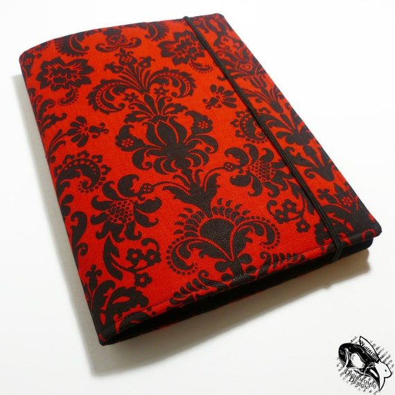 iPad Mini Cover, Samsung Galaxy, Kindle Paperwhite Cover, Nook Touch, Kindle Fire, iPad Mini, Custom eReader Case Cover - Black Red Damask