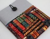 MacBook Air 11 & 12 inch Case Laptop Sleeve Cover Padded , with pockets for iPhone - Vintage Books