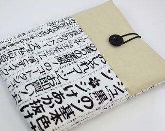 iPad Case, iPad Sleeve, iPad Cover, PADDED, with pockets for iPhone - Japanese Newspaper