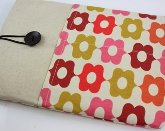 "Laptop Case, 13"" MacBook Case, 13"" MacBook Air Case, 13"" MacBook Pro Case, PADDED, with 2 pockets - Braemore Calliope Jelly Bean"