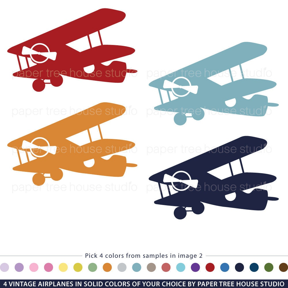 vintage airplane clipart - photo #1