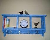 Handmade solid pine shelf/Cubby Shelf/Coat Rack/Mudroom Storage