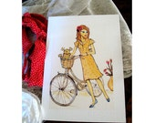 fine art print Sophie and Maisy go shopping