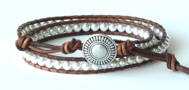 chan luu style leather wrap bracelet swarovski by. Black Bedroom Furniture Sets. Home Design Ideas